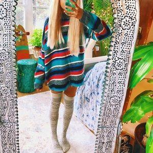 stranger things vibes mock neck sweater